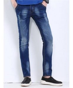 Cat s Whisker Printed Scratch Jeans For Men