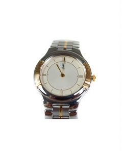 Authentic Yves Saint Laurent Ivory Dial Stainless Steel Women's Watch