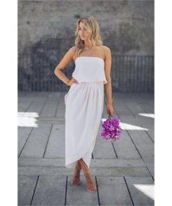 Fleur Strapless Dress - Nude