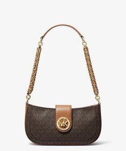 MK Carmen Extra-Small Logo Shoulder Bag - Brn/acorn - Michael Kors