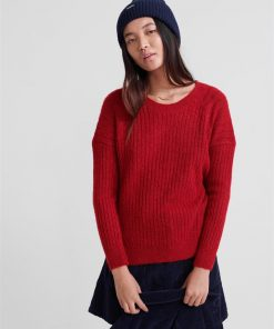 Aimee Rib Jumper Deep Berry