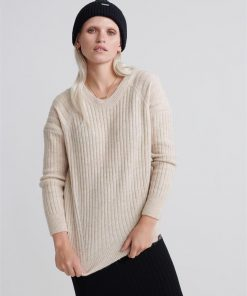 Aimee Rib Jumper Neutral Marle