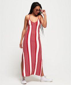 Azur Stripe Maxi Dress Red Stripe