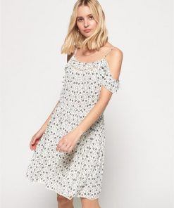 Bardot Cami Dress Ecru Geo