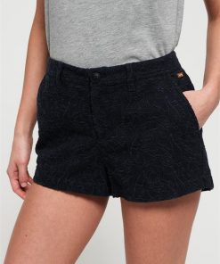 Broderie Chino Short Midnight Navy