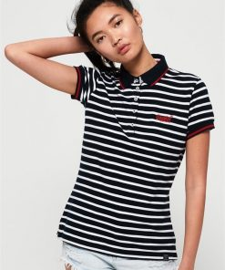 Classic Polo Top Eclipse Navy Stripe