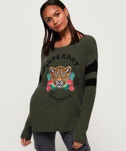 Jungle Leopard Jumper Soft Khaki