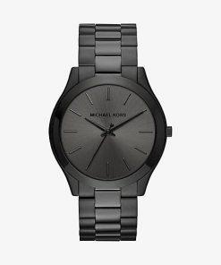 MK Oversized Slim Runway Black-Tone Watch - Black - Michael Kors