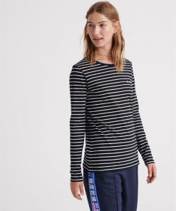 Ol Essential Ls Top Black Stripe
