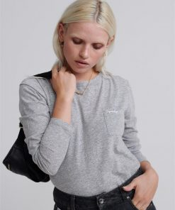 Ol Essential Ls Top Mid Grey Marle