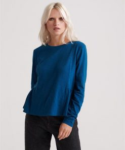 Peplum Rodeo Ls Top Rodeo Blue