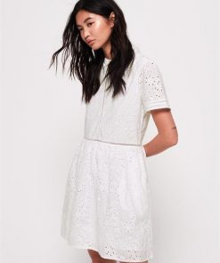Shelly Schiffli Dress White
