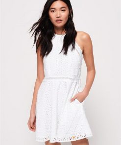 Teagan Halter Dress White
