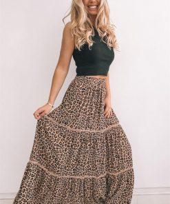 Himba Skirt - Leopard Print