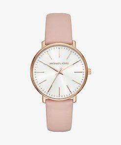 MK Pyper Rose Gold-Tone Leather Watch - Rose Gold - Michael Kors