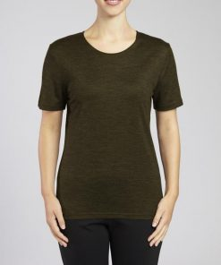 Merino & Co Merino Wool Round Neck T-Shirt Olive