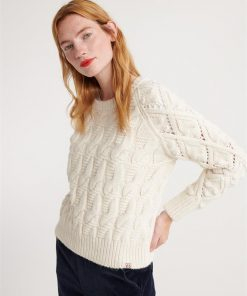 Sophie Ann Cable Knit Cream